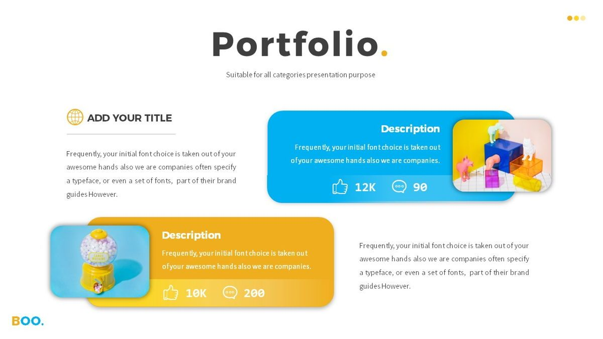 Boo - Multipurpose Creative Powerpoint Template, Slide 13, 06403, Data Driven Diagrams and Charts — PoweredTemplate.com