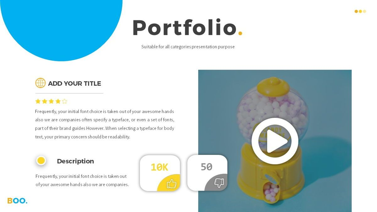 Boo - Multipurpose Creative Powerpoint Template, Slide 16, 06403, Data Driven Diagrams and Charts — PoweredTemplate.com
