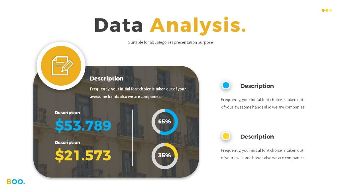 Boo - Multipurpose Creative Powerpoint Template, Slide 19, 06403, Data Driven Diagrams and Charts — PoweredTemplate.com