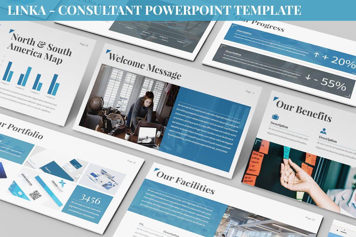 Linka - Consultant Powerpoint Template, 06404, Business Models — PoweredTemplate.com