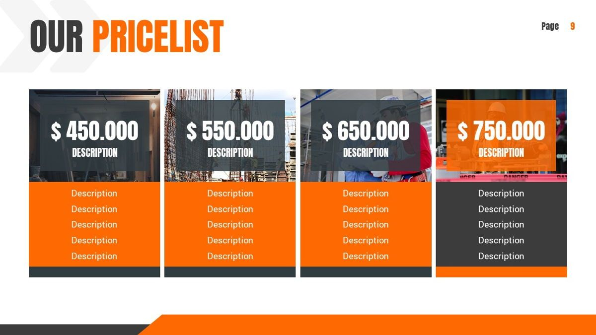 Ankara - Construction Powerpoint Template, Slide 10, 06405, Data Driven Diagrams and Charts — PoweredTemplate.com