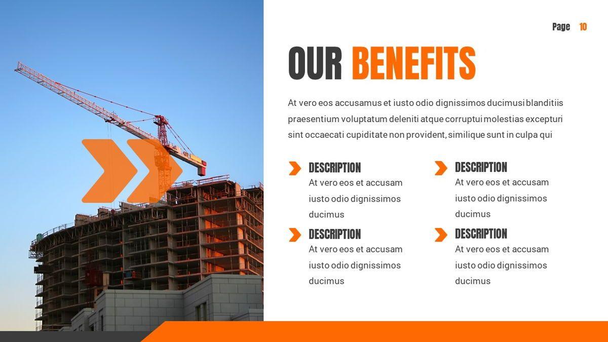 Ankara - Construction Powerpoint Template, Slide 11, 06405, Data Driven Diagrams and Charts — PoweredTemplate.com