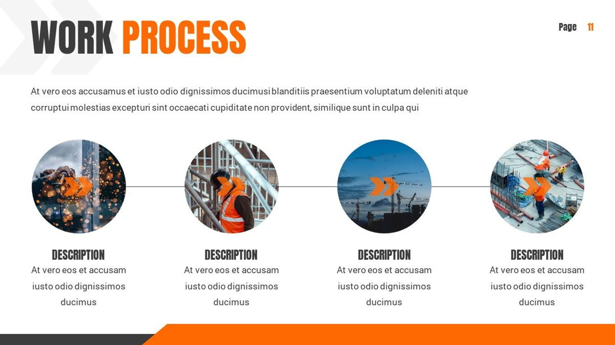 Ankara - Construction Powerpoint Template, Slide 12, 06405, Data Driven Diagrams and Charts — PoweredTemplate.com