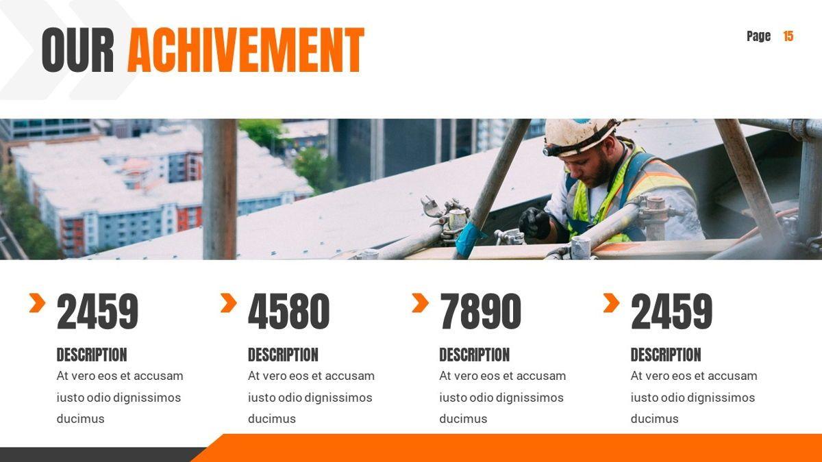 Ankara - Construction Powerpoint Template, Slide 16, 06405, Data Driven Diagrams and Charts — PoweredTemplate.com