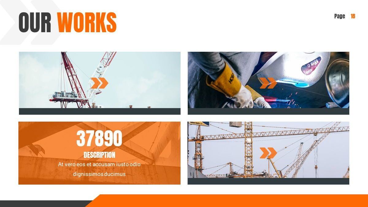 Ankara - Construction Powerpoint Template, Slide 19, 06405, Data Driven Diagrams and Charts — PoweredTemplate.com