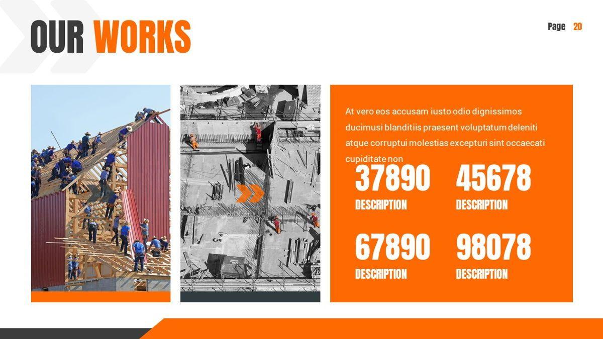 Ankara - Construction Powerpoint Template, Slide 21, 06405, Data Driven Diagrams and Charts — PoweredTemplate.com
