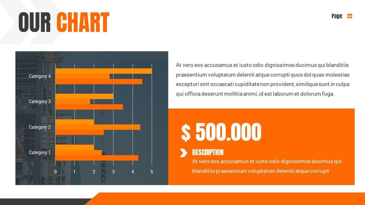 Ankara - Construction Powerpoint Template, Slide 23, 06405, Data Driven Diagrams and Charts — PoweredTemplate.com