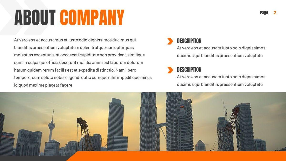 Ankara - Construction Powerpoint Template, Slide 3, 06405, Data Driven Diagrams and Charts — PoweredTemplate.com