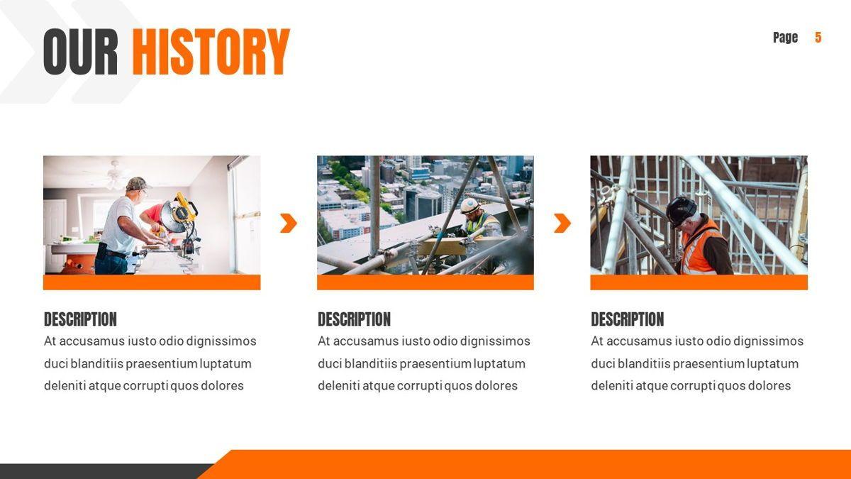 Ankara - Construction Powerpoint Template, Slide 6, 06405, Data Driven Diagrams and Charts — PoweredTemplate.com