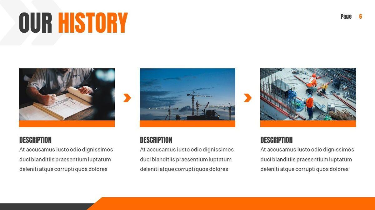 Ankara - Construction Powerpoint Template, Slide 7, 06405, Data Driven Diagrams and Charts — PoweredTemplate.com