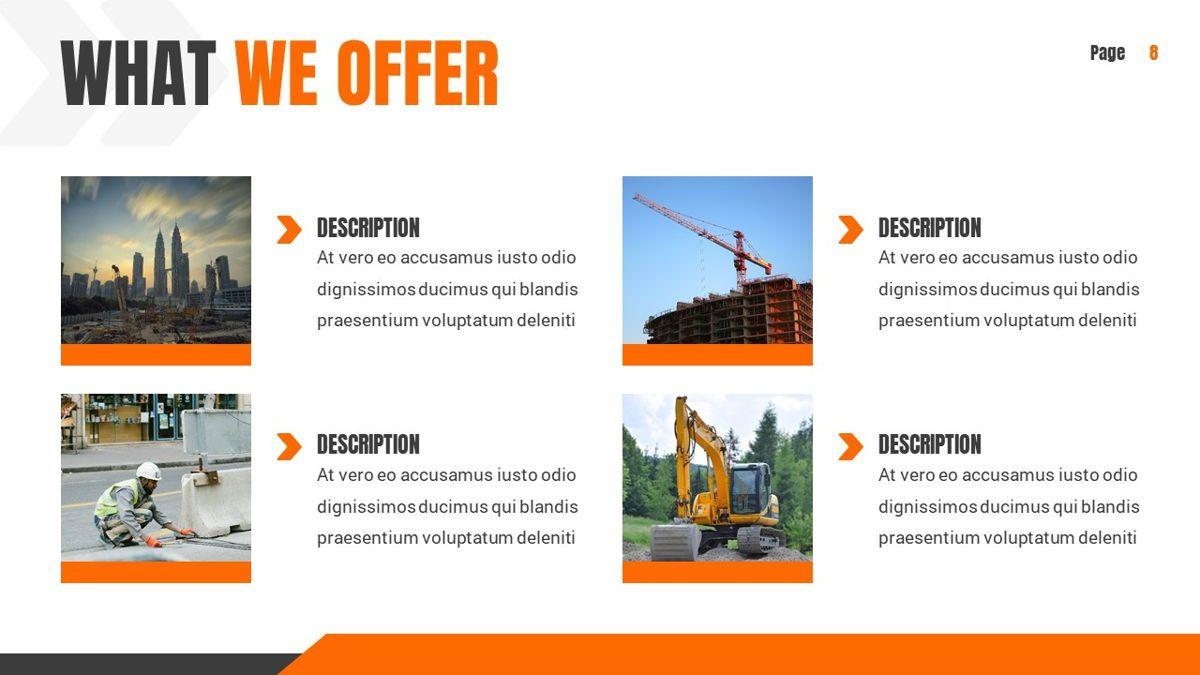 Ankara - Construction Powerpoint Template, Slide 9, 06405, Data Driven Diagrams and Charts — PoweredTemplate.com