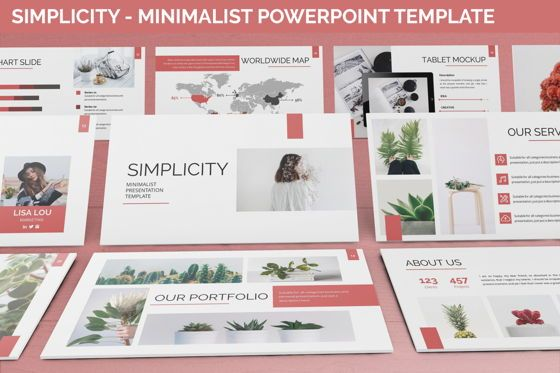 Data Driven Diagrams and Charts: Simplycity - Minimalist Powerpoint Template #06408