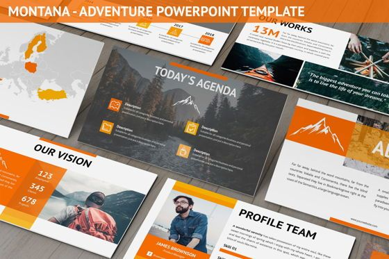 Business Models: Montana - Adventure Powerpoint Template #06409