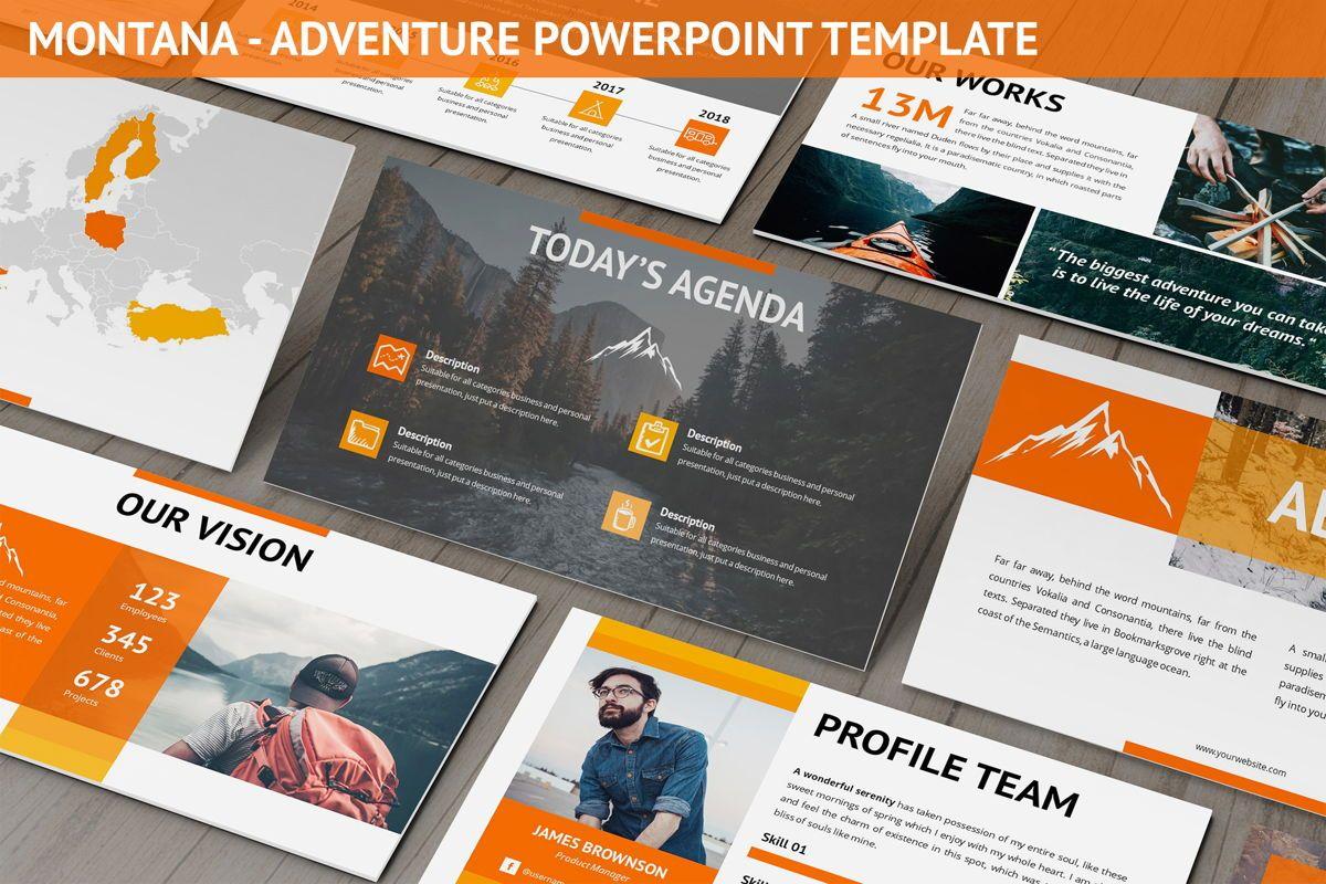 Montana - Adventure Powerpoint Template, 06409, Business Models — PoweredTemplate.com