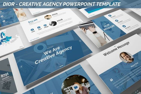 Business Models: Dior - Agency Powerpoint Template #06412