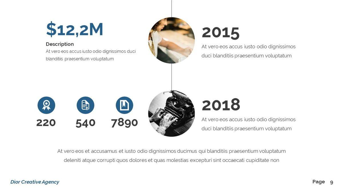 Dior - Agency Powerpoint Template, Slide 10, 06412, Business Models — PoweredTemplate.com