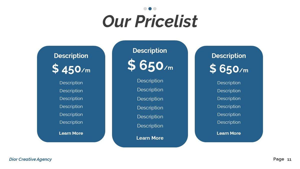Dior - Agency Powerpoint Template, Slide 12, 06412, Business Models — PoweredTemplate.com