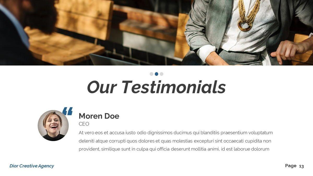 Dior - Agency Powerpoint Template, Slide 14, 06412, Business Models — PoweredTemplate.com