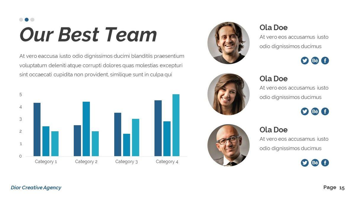 Dior - Agency Powerpoint Template, Slide 16, 06412, Business Models — PoweredTemplate.com
