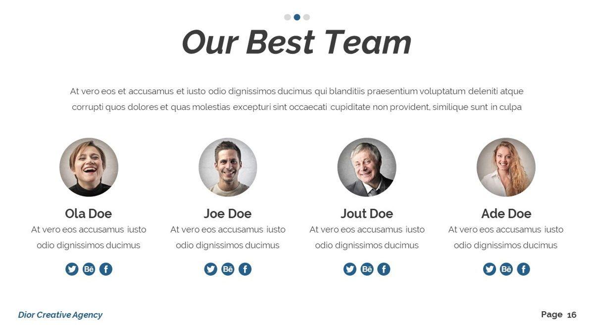 Dior - Agency Powerpoint Template, Slide 17, 06412, Business Models — PoweredTemplate.com
