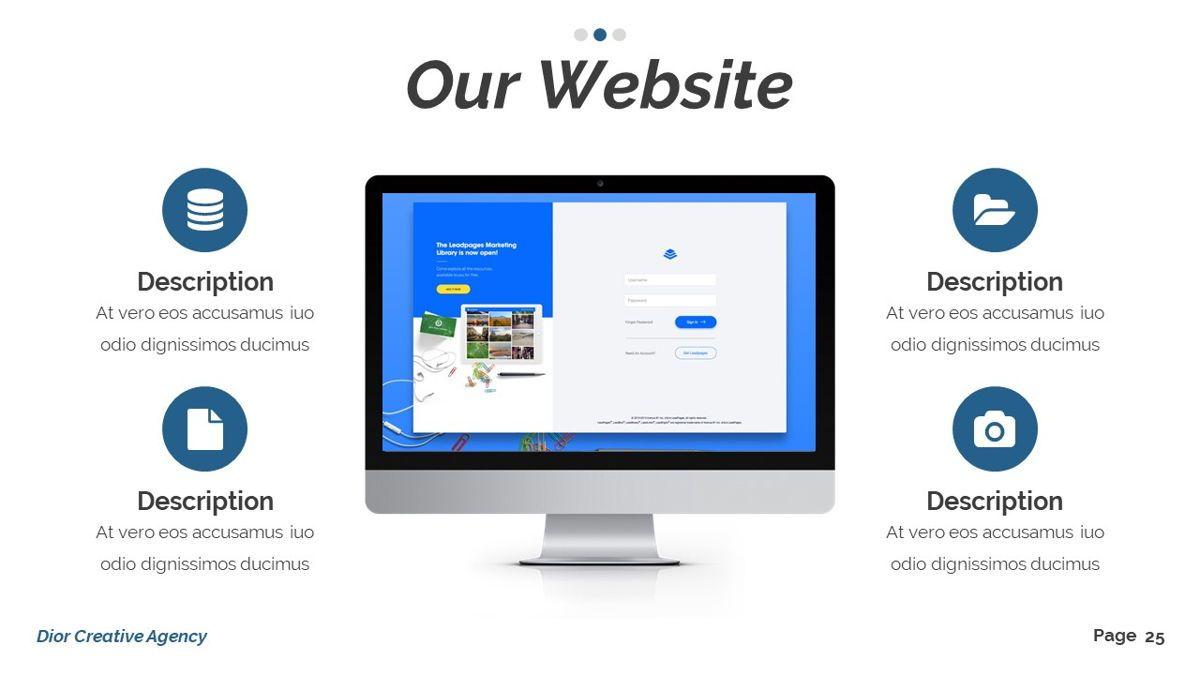 Dior - Agency Powerpoint Template, Slide 26, 06412, Business Models — PoweredTemplate.com