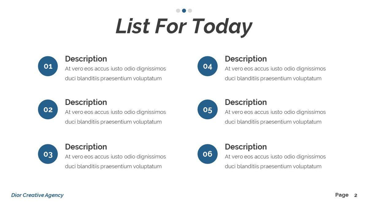 Dior - Agency Powerpoint Template, Slide 3, 06412, Business Models — PoweredTemplate.com