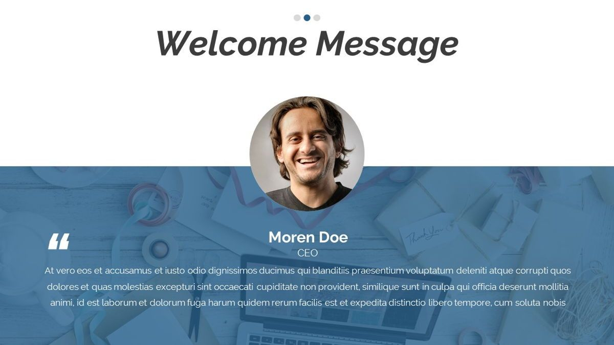 Dior - Agency Powerpoint Template, Slide 4, 06412, Business Models — PoweredTemplate.com