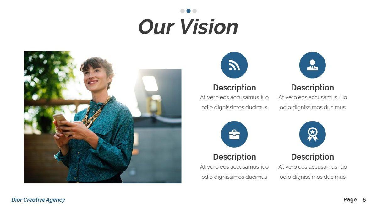 Dior - Agency Powerpoint Template, Slide 7, 06412, Business Models — PoweredTemplate.com