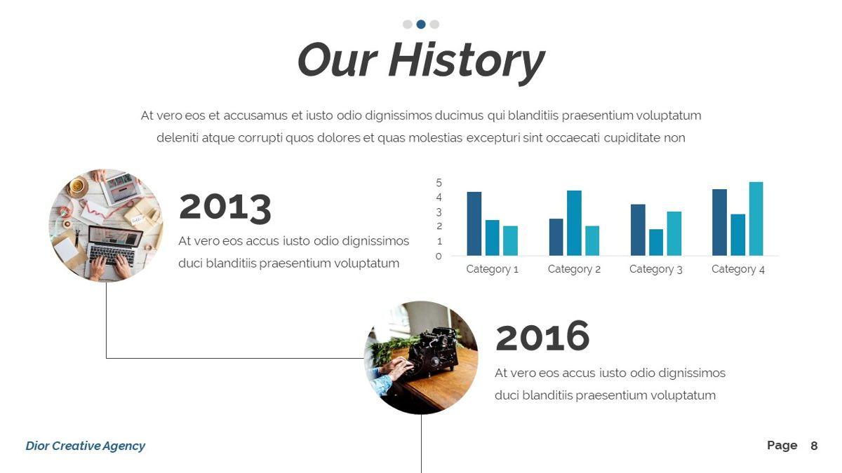 Dior - Agency Powerpoint Template, Slide 9, 06412, Business Models — PoweredTemplate.com