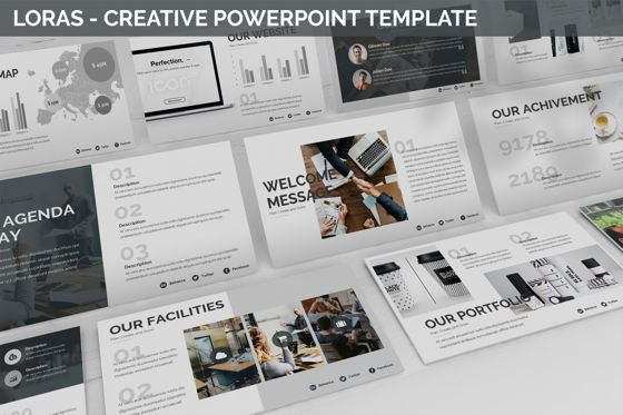 Business Models: Loras - Creative Powerpoint Template #06413