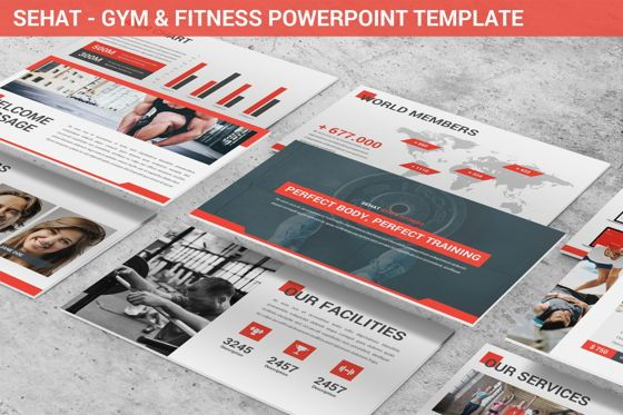 Data Driven Diagrams and Charts: Sehat - Strong Powerpoint Template #06414