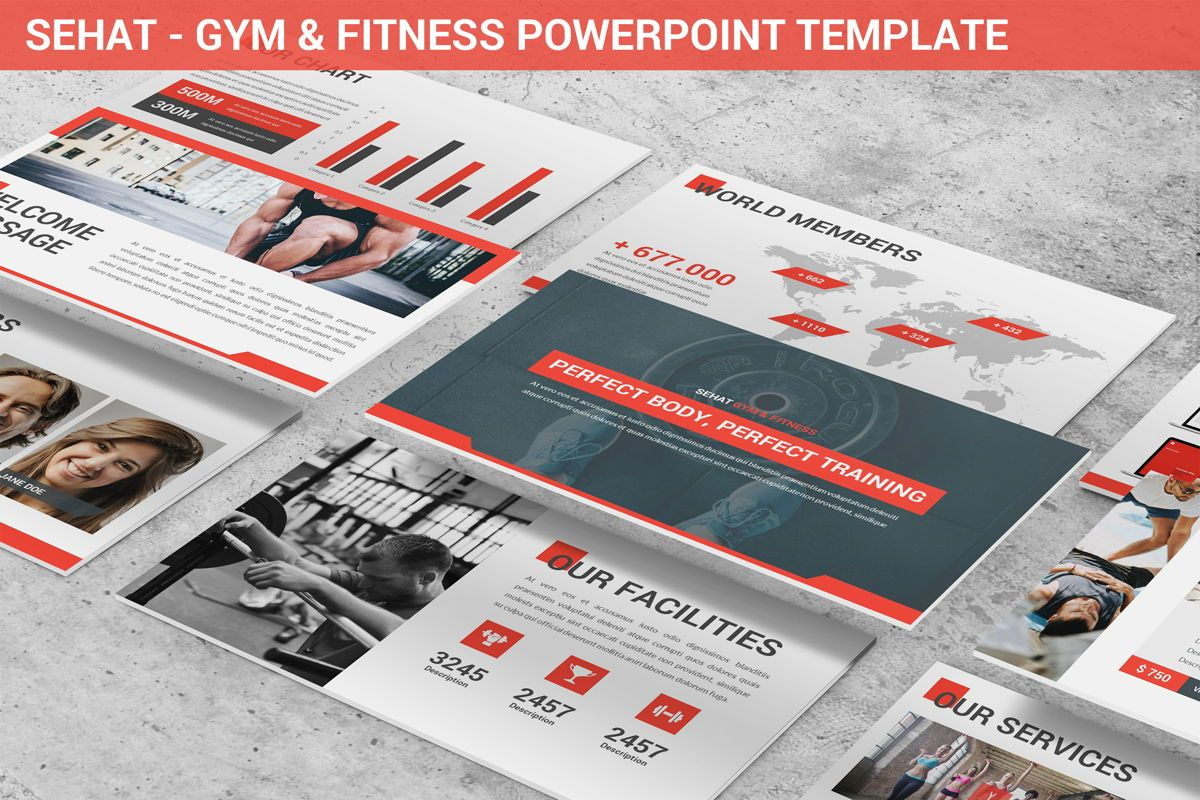 Sehat - Strong Powerpoint Template, 06414, Data Driven Diagrams and Charts — PoweredTemplate.com