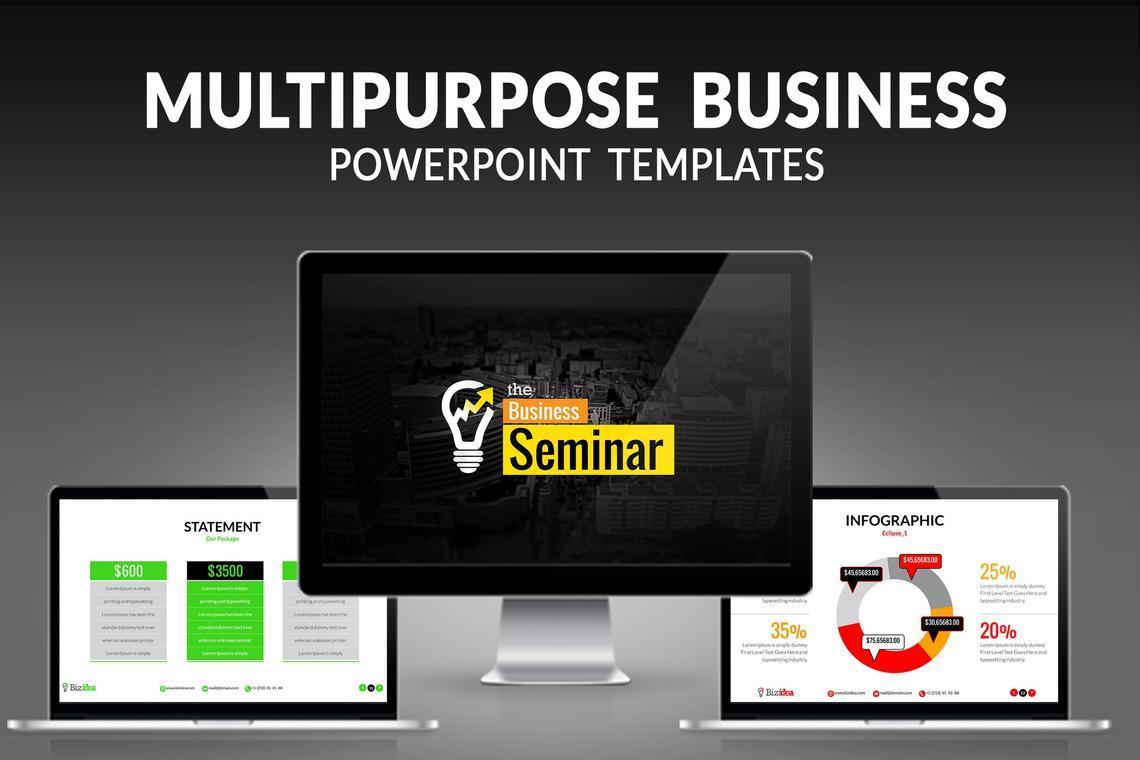 Biz Idea PowerPoint Presentation Template, 06416, Business Models — PoweredTemplate.com