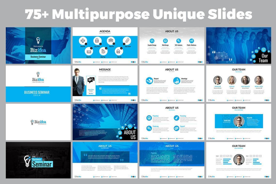 Biz Idea PowerPoint Presentation Template, Slide 2, 06416, Business Models — PoweredTemplate.com