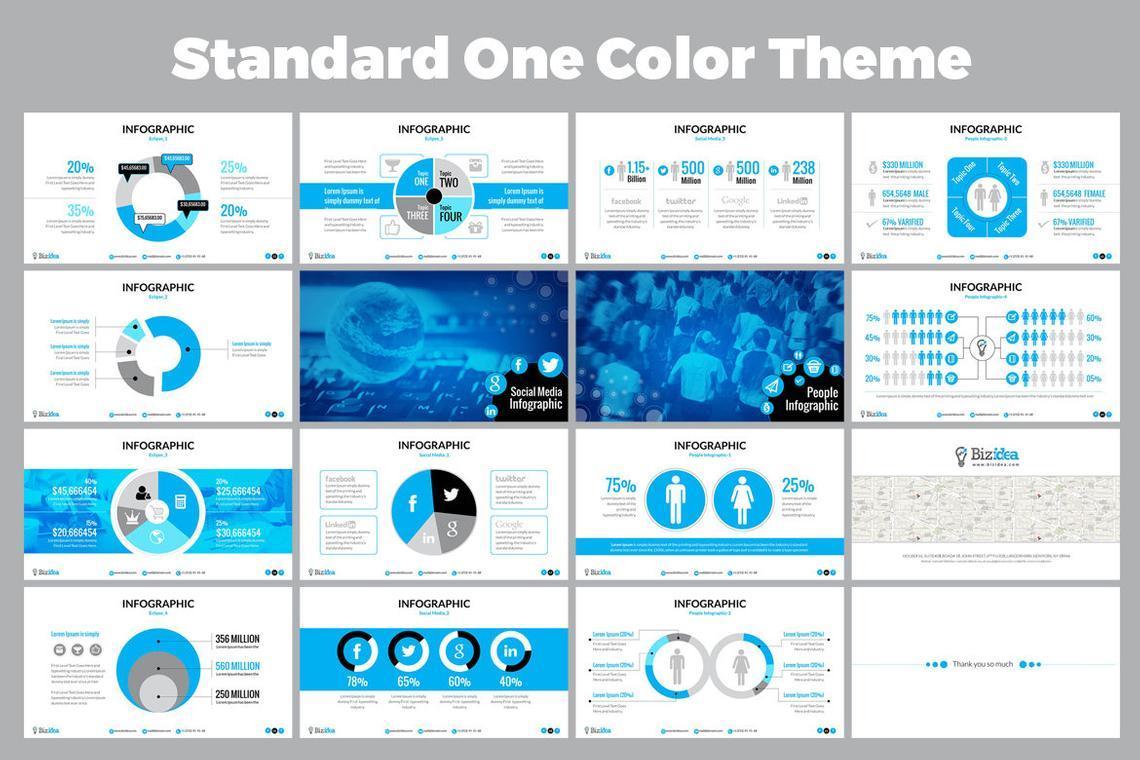 Biz Idea PowerPoint Presentation Template, Slide 6, 06416, Business Models — PoweredTemplate.com