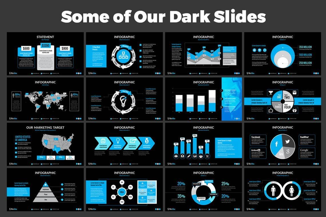 Biz Idea PowerPoint Presentation Template, Slide 7, 06416, Business Models — PoweredTemplate.com