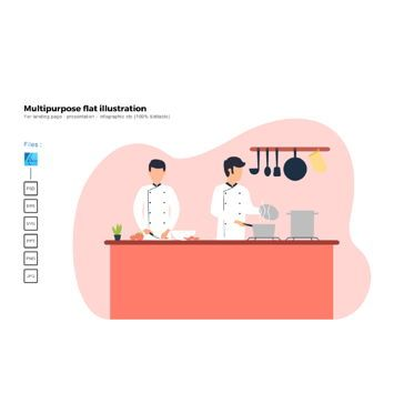 Infographics: Flat illustration cooking #06417