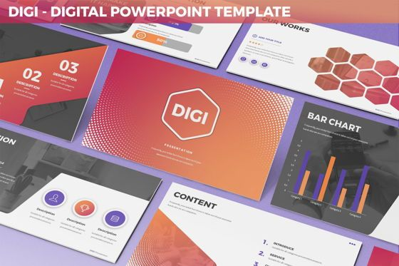 Business Models: Digi - Digital Powerpoint Template #06419
