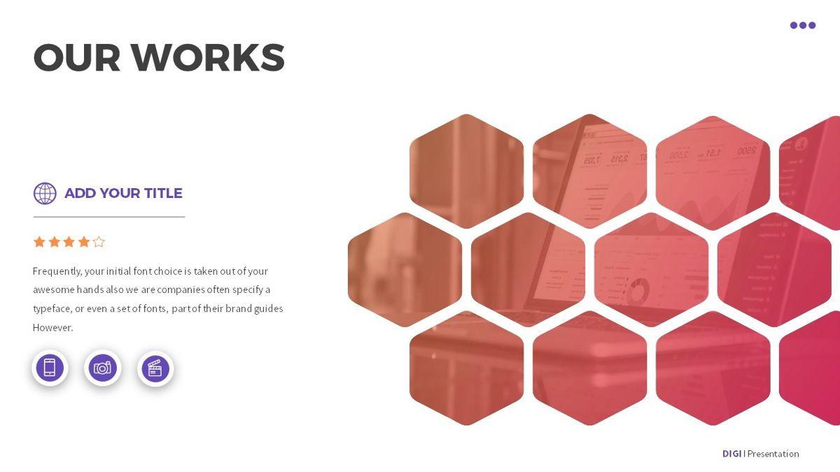 Digi - Digital Powerpoint Template, Slide 14, 06419, Business Models — PoweredTemplate.com