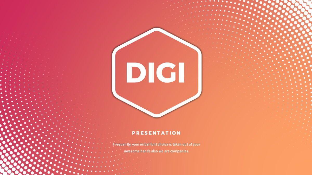 Digi - Digital Powerpoint Template, Slide 2, 06419, Business Models — PoweredTemplate.com