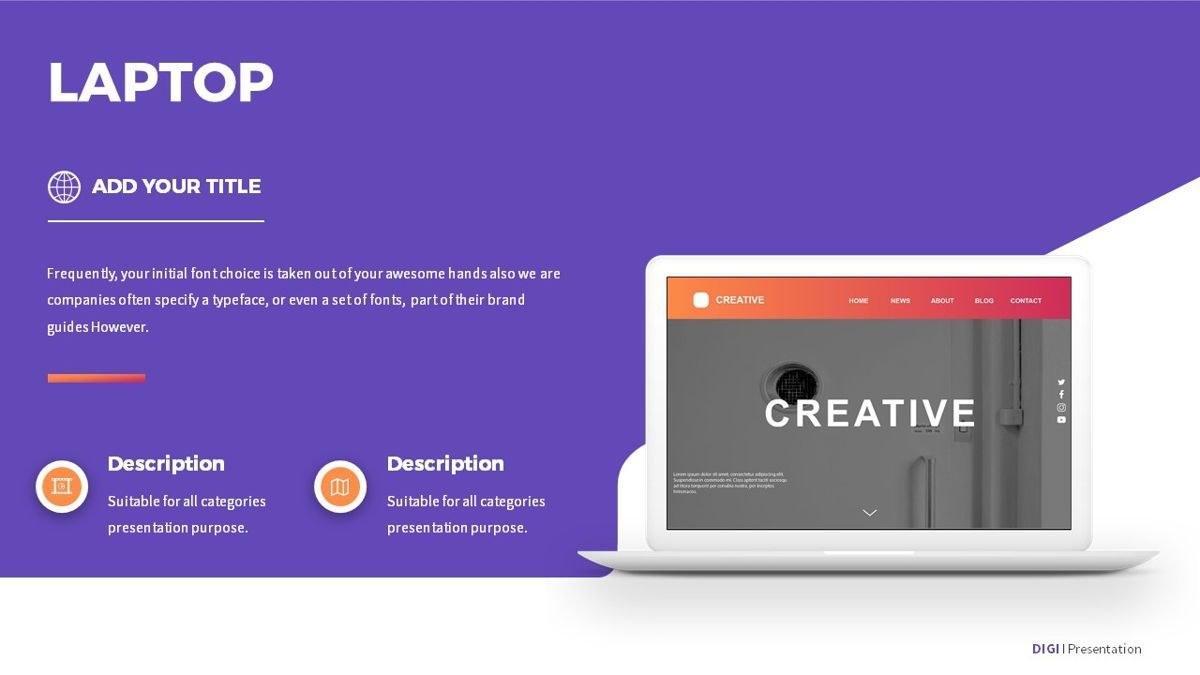 Digi - Digital Powerpoint Template, Slide 20, 06419, Business Models — PoweredTemplate.com