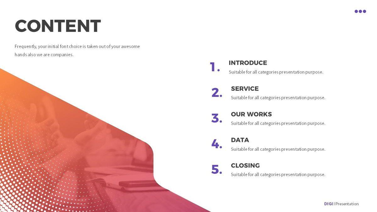 Digi - Digital Powerpoint Template, Slide 7, 06419, Business Models — PoweredTemplate.com