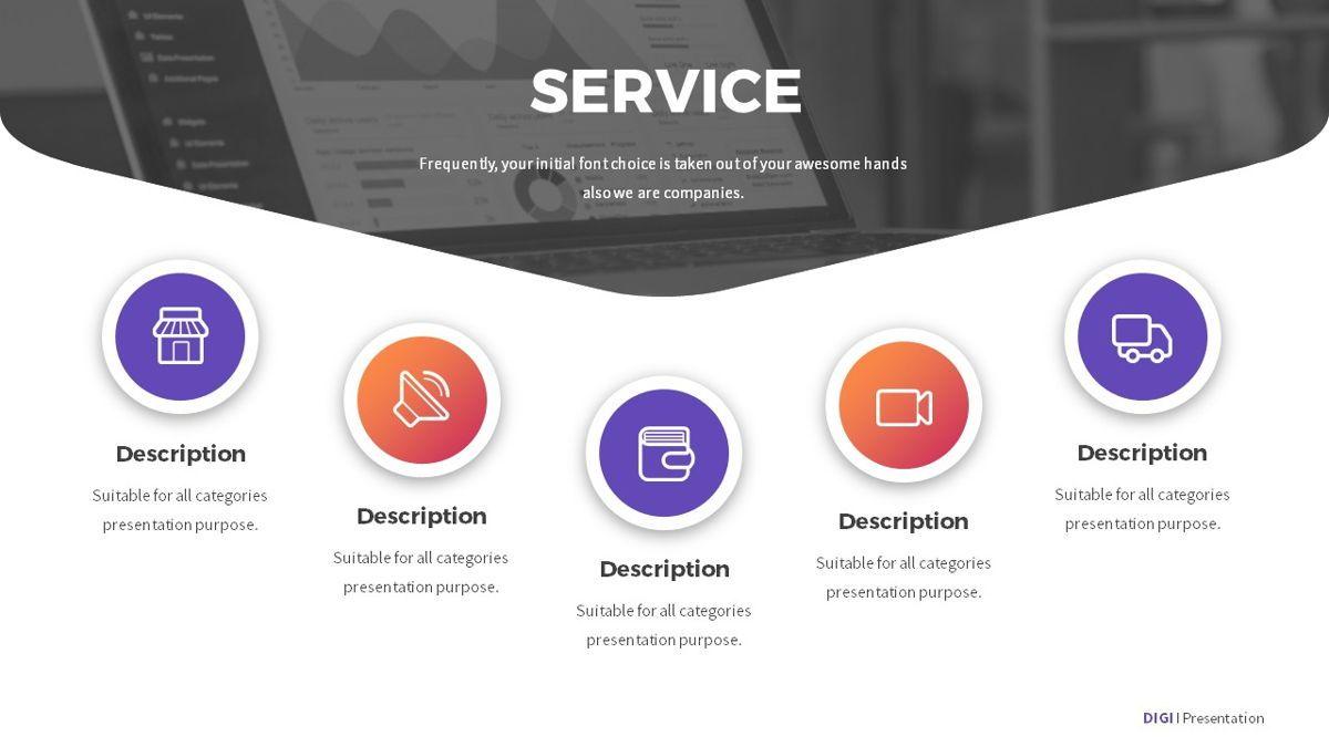 Digi - Digital Powerpoint Template, Slide 8, 06419, Business Models — PoweredTemplate.com