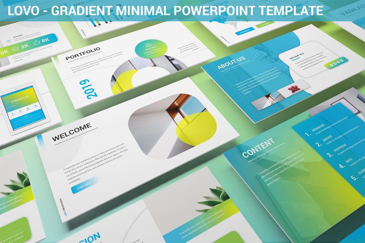 Lovo - Minimal Gradient Powerpoint Template, 06420, Business Models — PoweredTemplate.com