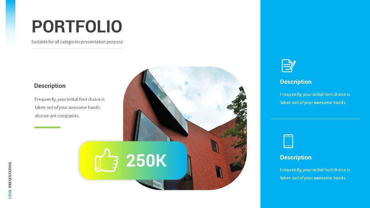 Lovo - Minimal Gradient Powerpoint Template, Slide 13, 06420, Business Models — PoweredTemplate.com