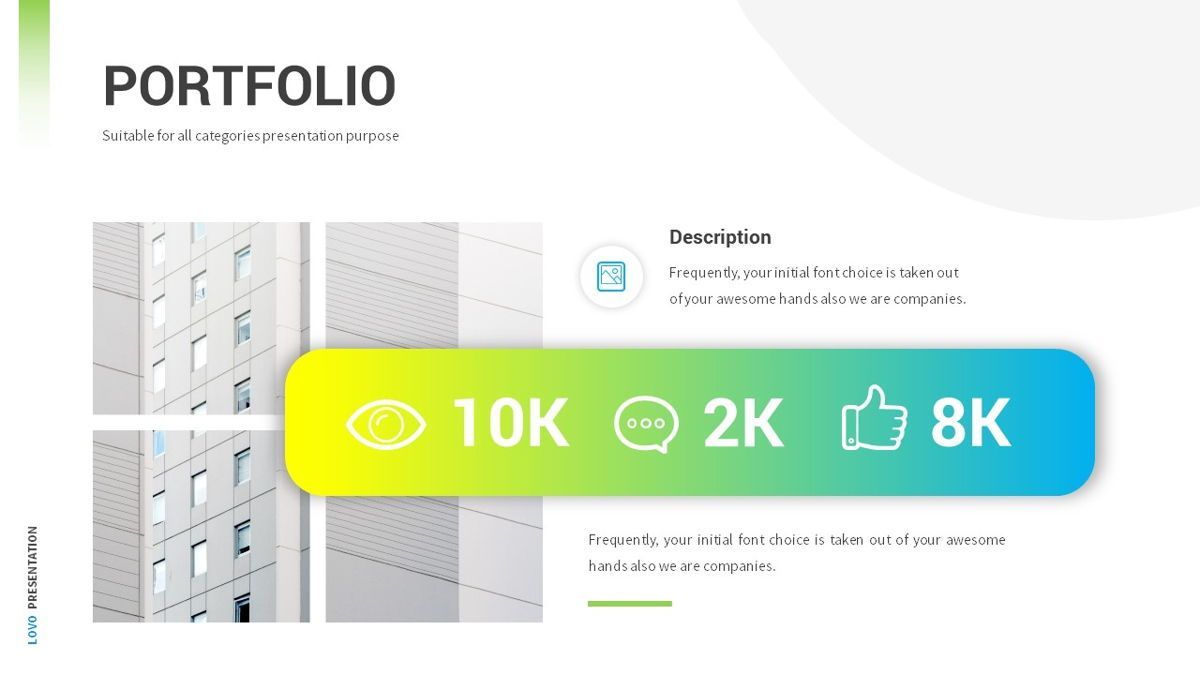 Lovo - Minimal Gradient Powerpoint Template, Slide 17, 06420, Business Models — PoweredTemplate.com