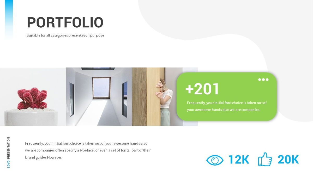 Lovo - Minimal Gradient Powerpoint Template, Slide 19, 06420, Business Models — PoweredTemplate.com