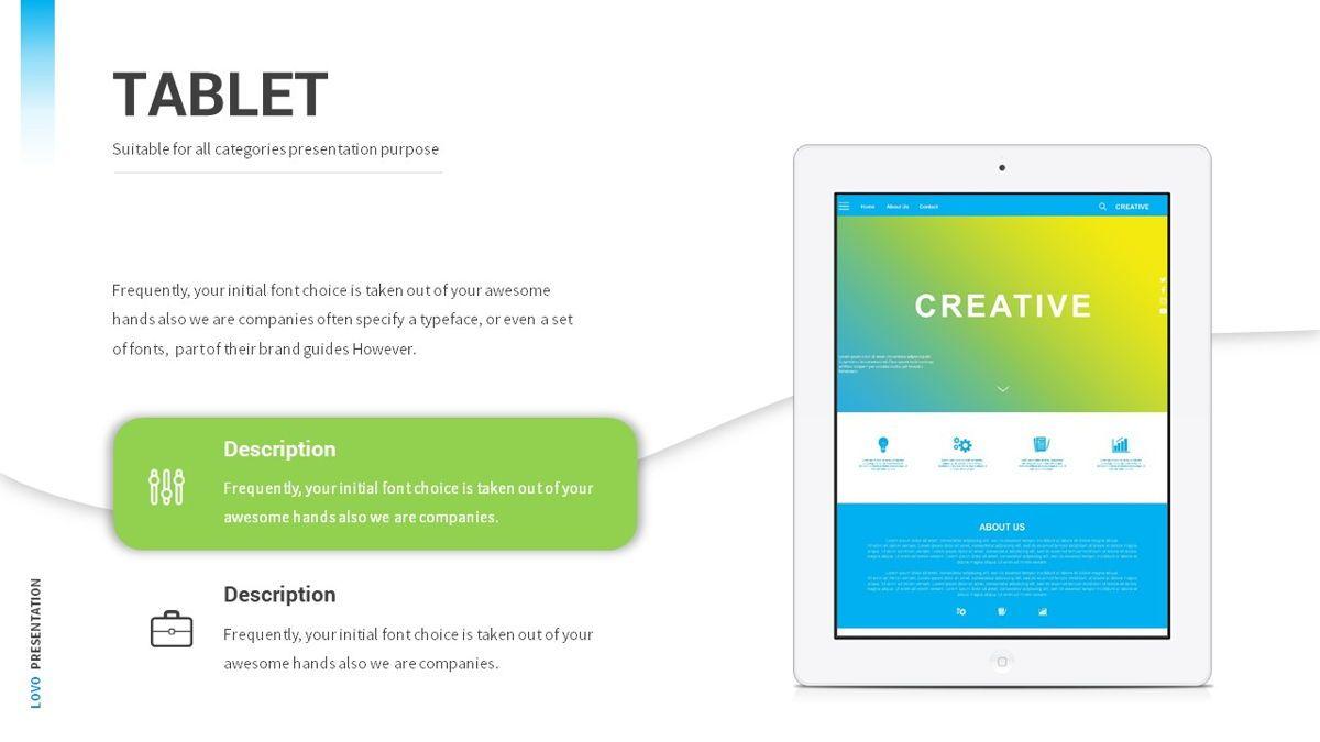 Lovo - Minimal Gradient Powerpoint Template, Slide 22, 06420, Business Models — PoweredTemplate.com