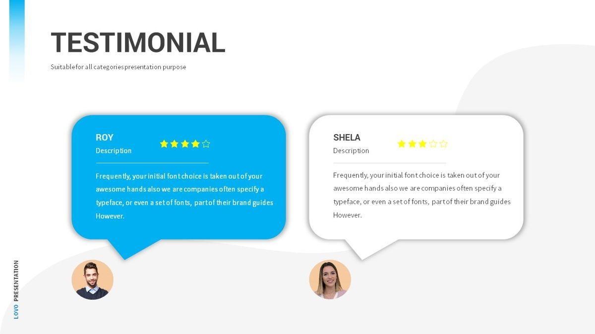 Lovo - Minimal Gradient Powerpoint Template, Slide 29, 06420, Business Models — PoweredTemplate.com