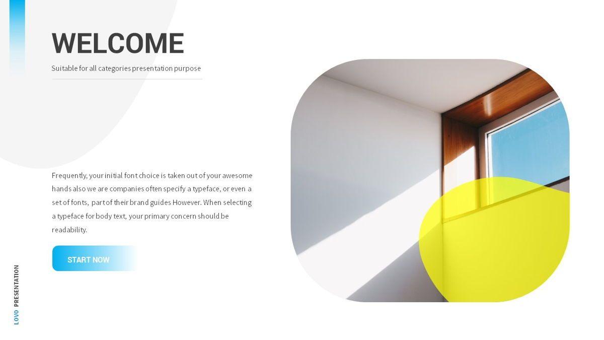 Lovo - Minimal Gradient Powerpoint Template, Slide 3, 06420, Business Models — PoweredTemplate.com
